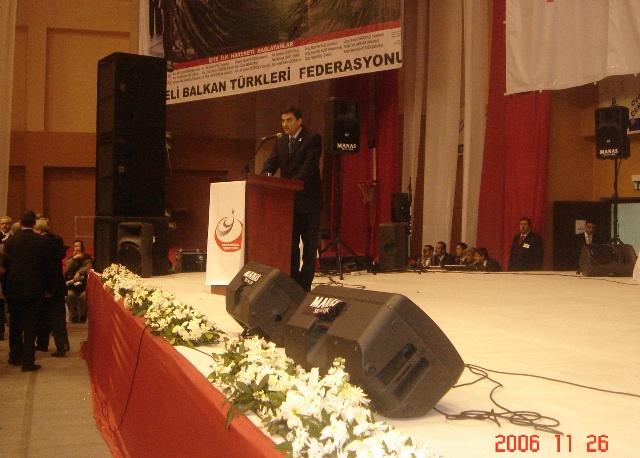 KDTP Genel Başkanı Mahir Yağcılar, İstanbul Zeytinburnu Rumeli Balkan Federasyonu I. Olağan Genel Kurulu'nda