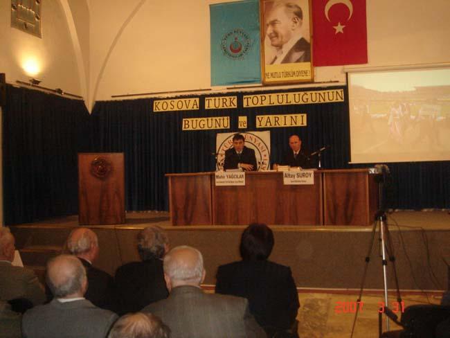 """""""Kosova Türk Topluluğunun Bugünü Ve Yarını"""" Konferansına KDTP Genel başkanı ve Adalet Bakan Vekilimiz Katıldı"""