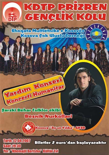 KDTP Prizren Gençlik Kolundan Yardım Konseri