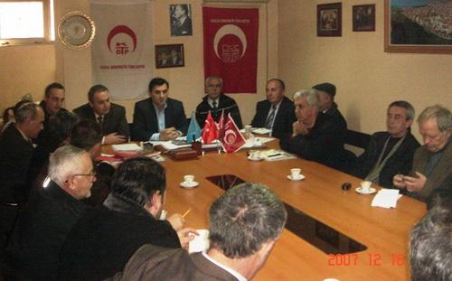 KDTP Merkez Yönetim Kurulu'nun 16 Aralık 2007 tarihinde, Prizren'de gerçekleştirdiği toplantıdan: