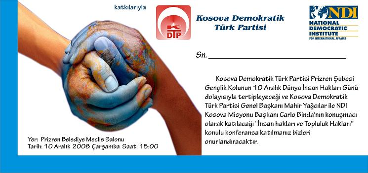 İnsan ve Topluluk Hakları Konferansı Bugün Prizren'de Yapılacak