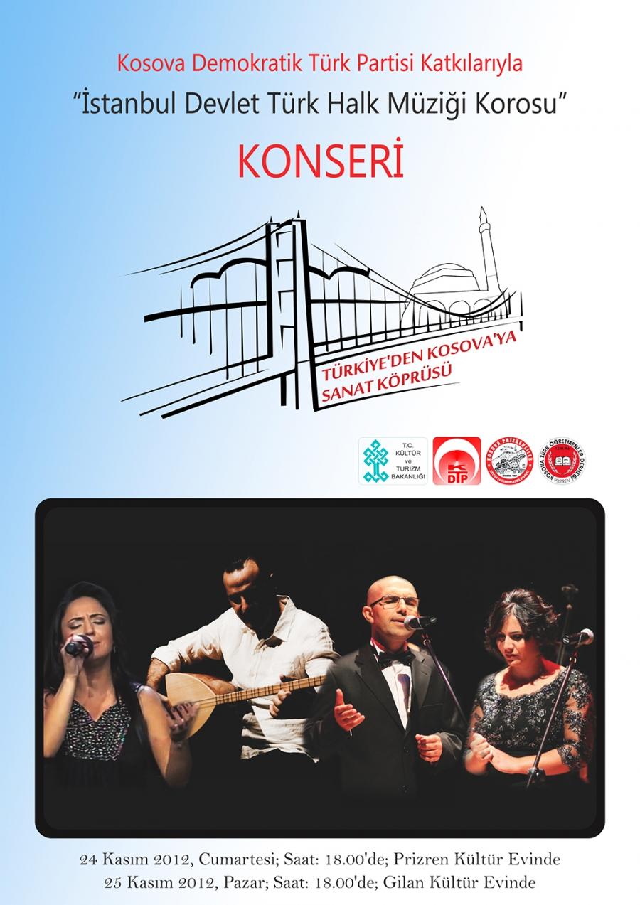 """KONSER – """"İstanbul Devlet Türk Halk Müziği Korosu"""""""