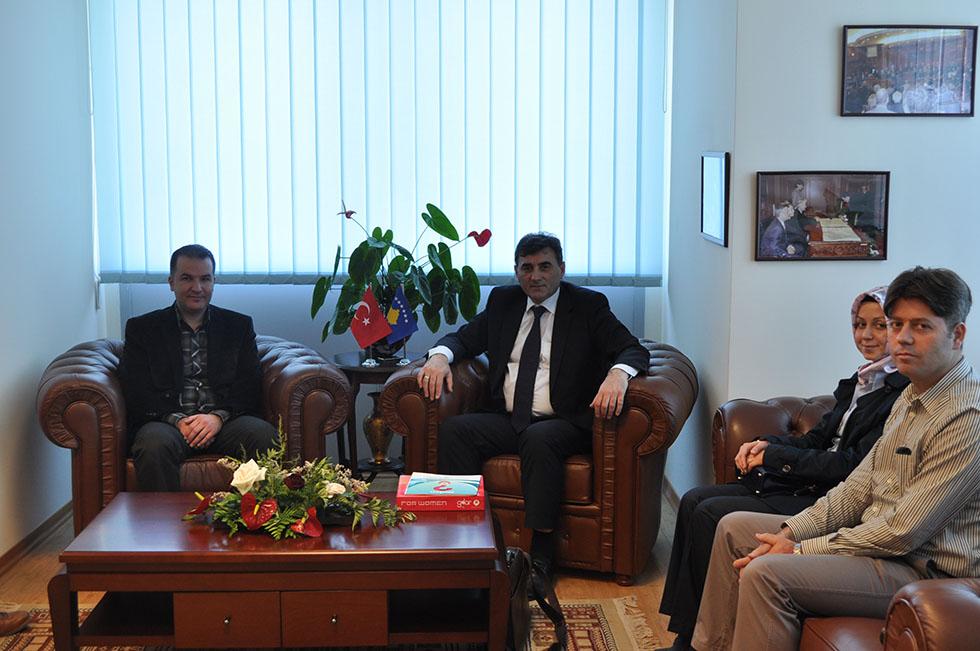 Süleyman Demirel Üniversitesi Heyeti Bakan Yağcılar'ı ziyaret ettiler
