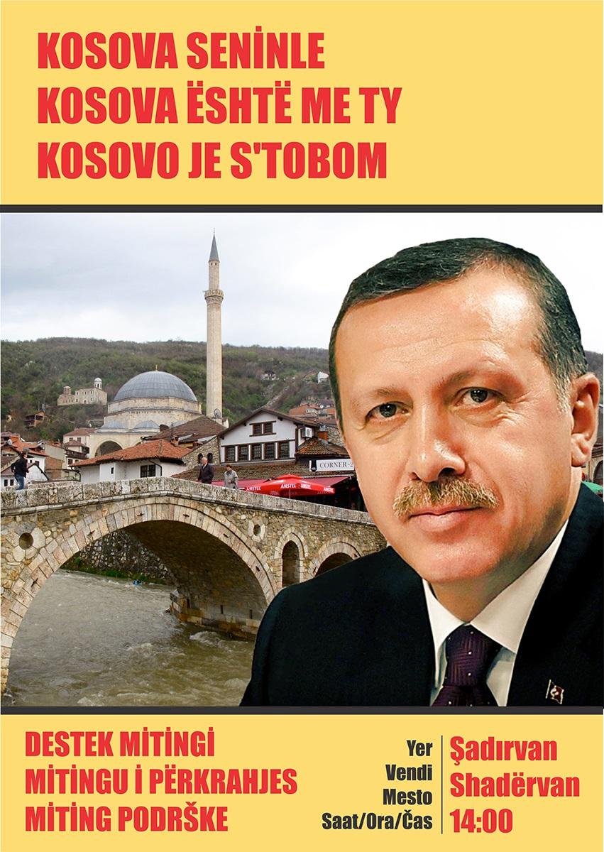Cuma 14.00'de Prizren'de Başbakan Erdoğan'a Destek Mitingi