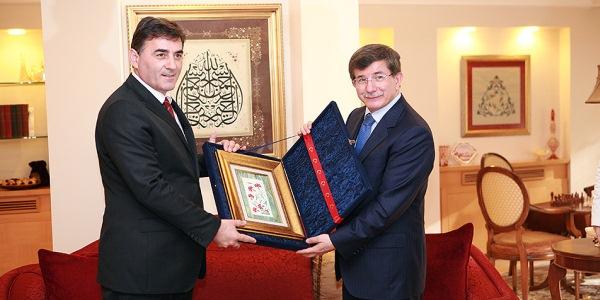 Genel Başkan Mahir Yağcılar, Dışişleri Bakanı Ahmet Davutoğlu'nla görüştü