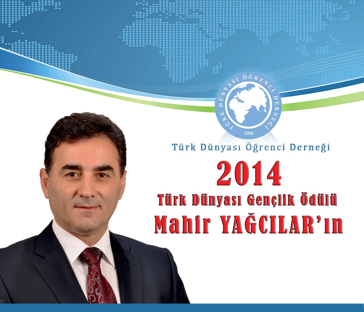 Mahir Yağcılar'a Türk Dünyası Gençlik Ödülü