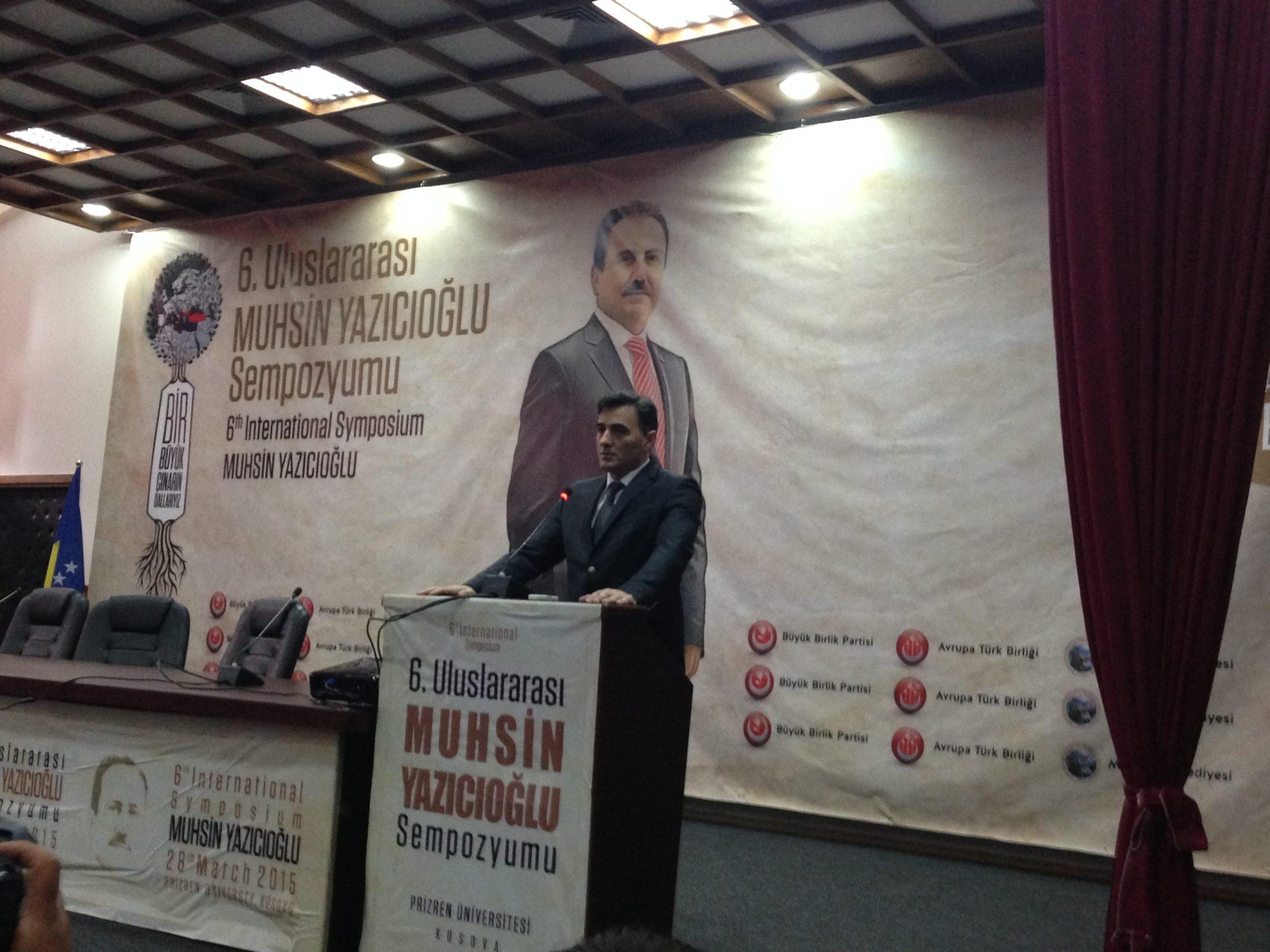 Bakan Yağcılar Muhsin Yazıcıoğlu Sempozyumuna katıldı