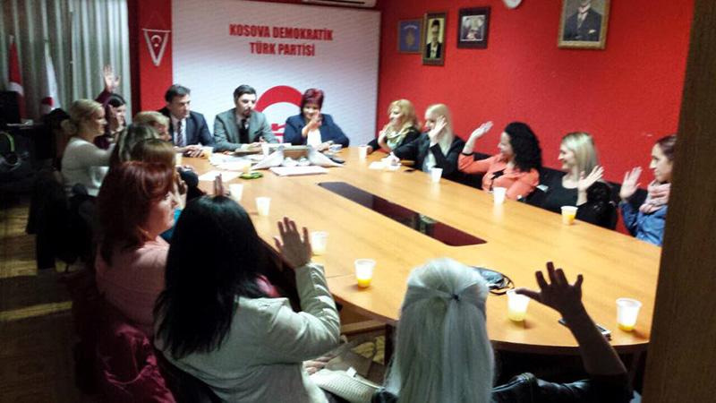KDTP Prizren Şubesi Kadın Kolları Başkanlı Fidan Jılta