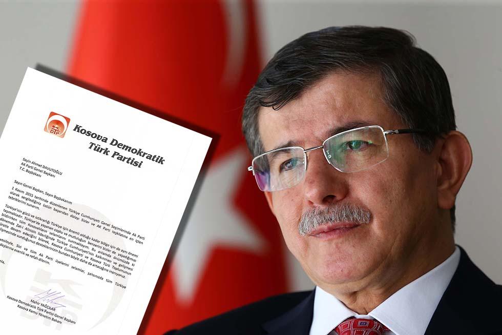 Mahir Yağcılar'dan Başbakan Davutoğlu'na Kutlama
