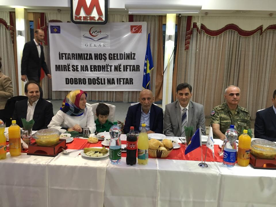Dragaş'ta Gekak Derneği'nin İftar Yemeği