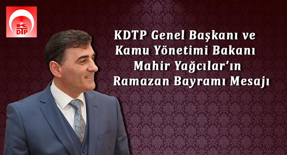 KDTP Genel Başkanı Mahir Yağcılar'ın Ramazan Bayramı Mesajı