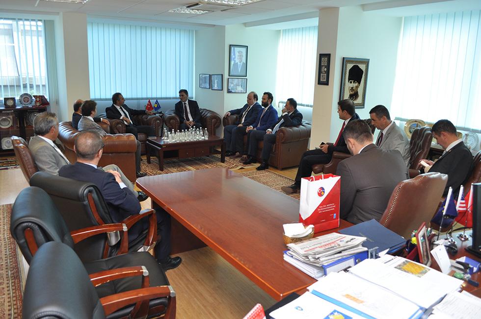 Genel Başkanımız, Kosova Türkiye Ticaret Odası Yetkililerini kabul etti