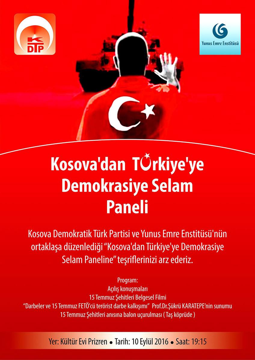 Kosova'dan Türkiye'ye Demokrasiye Selam Paneli