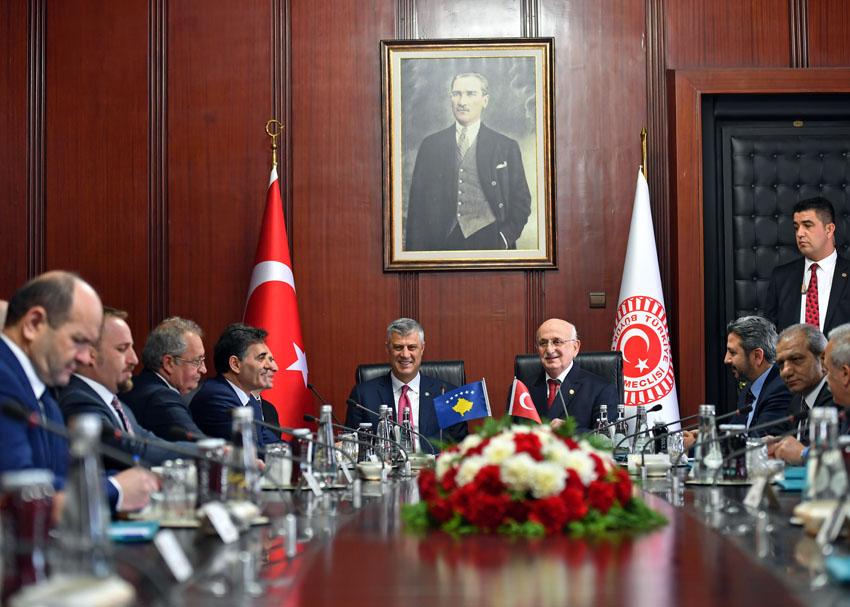 Cumhurbaşkanı Thaçi'nin Ankara Temasları
