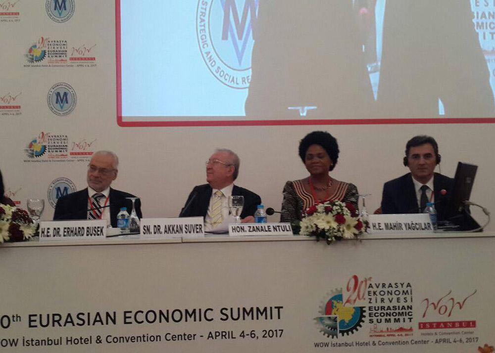 Genel Başkanımız 20. Avrasya Ekonomi Zirvesine Katıldı