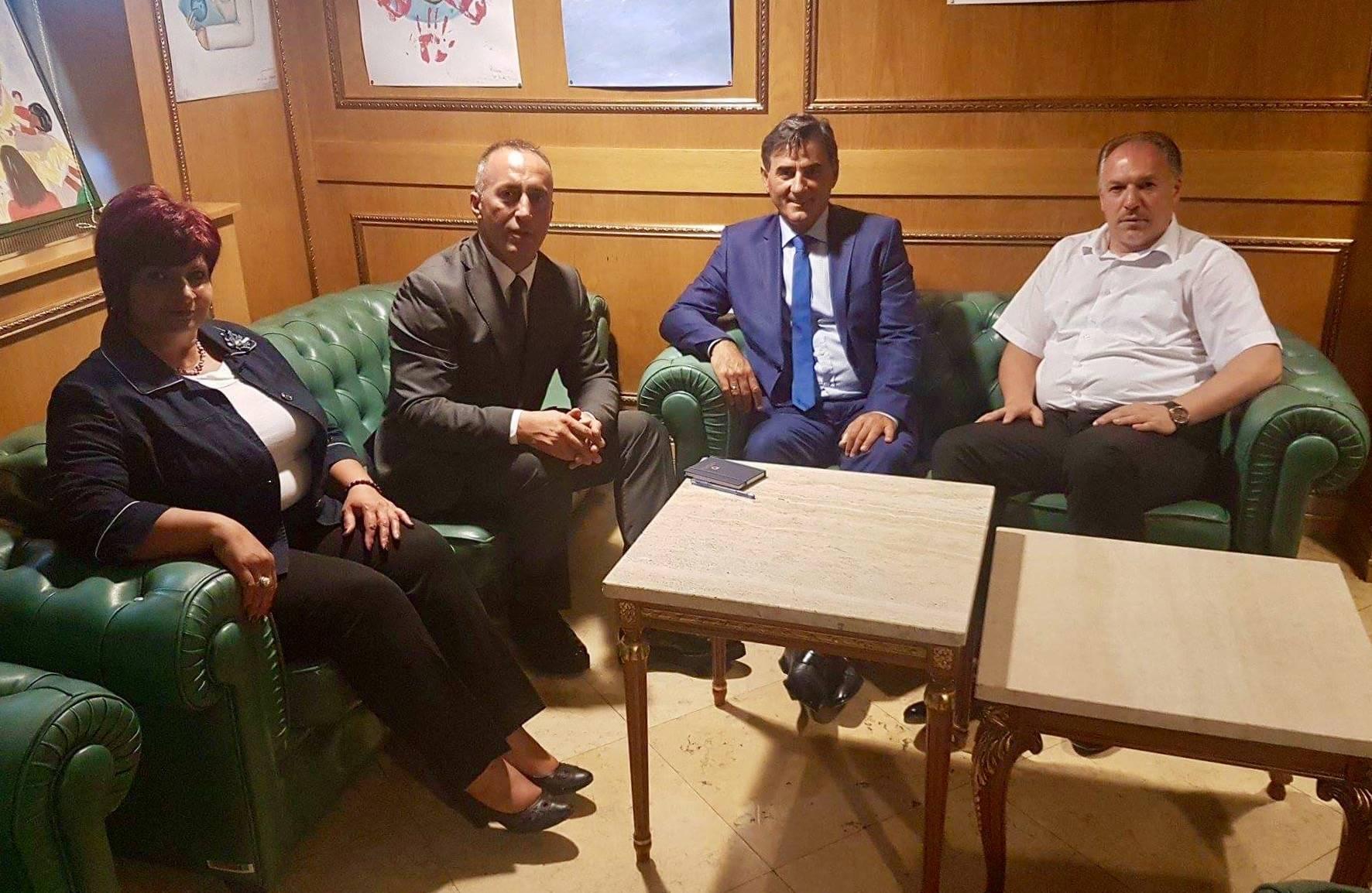 KDTP Temsilcileri, Başbakan Adayı Ramush Haradinaj ile bir araya geldi