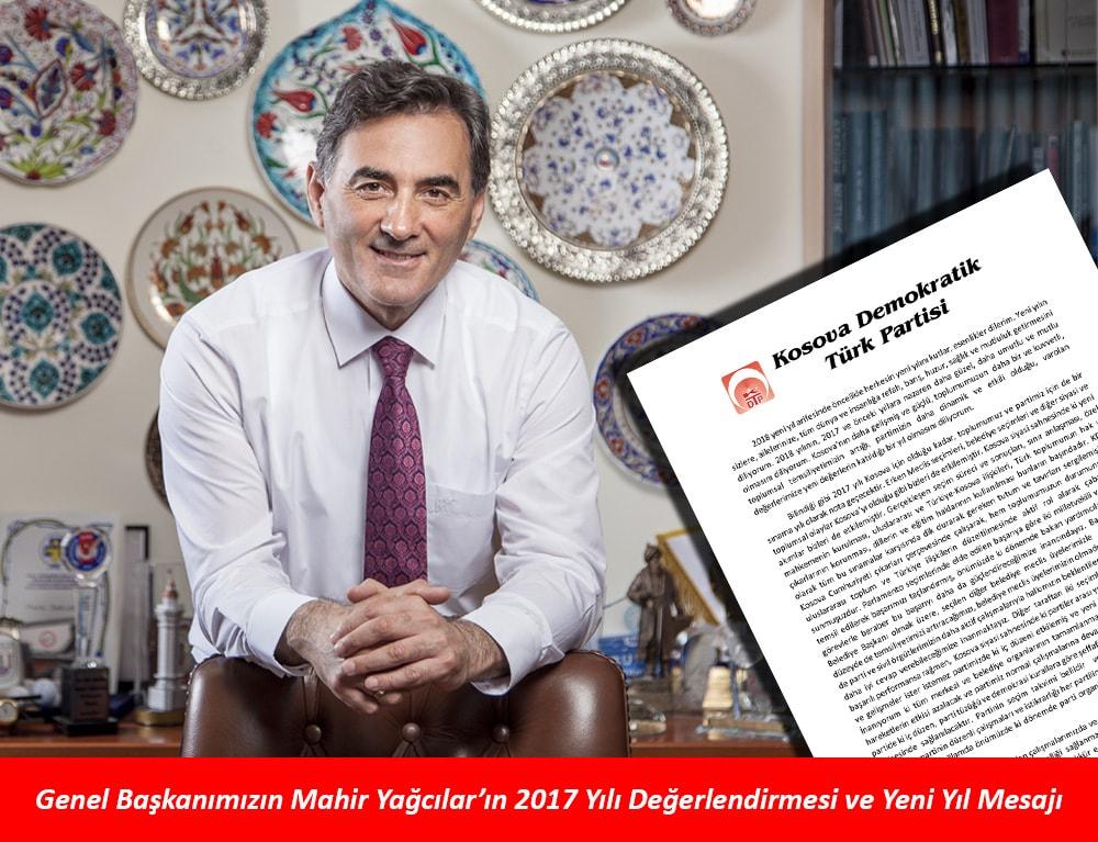 Genel Başkanımızın Mahir Yağcılar'ın 2017 Yılı Değerlendirmesi ve Yeni Yıl Mesajı