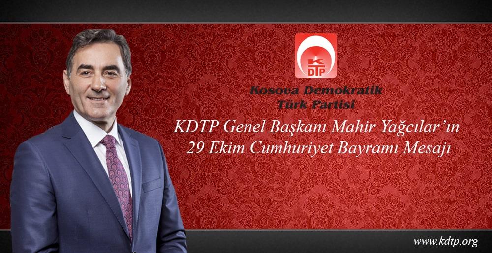 KDTP Genel Başkanı Mahir Yağcılar'ın 29 Ekim Cumhuriyet Bayramı Mesajı