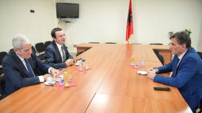 KDTP Genel Başkanı Mahir Yağcılar Vetevendosje Lideri Albin Kurti ile görüştü