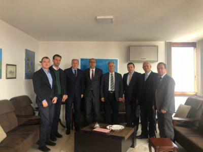Genel Başkanımız ve Şube Başkanlarımızdan Büyükelçi Sakar'a Nezaket Ziyareti