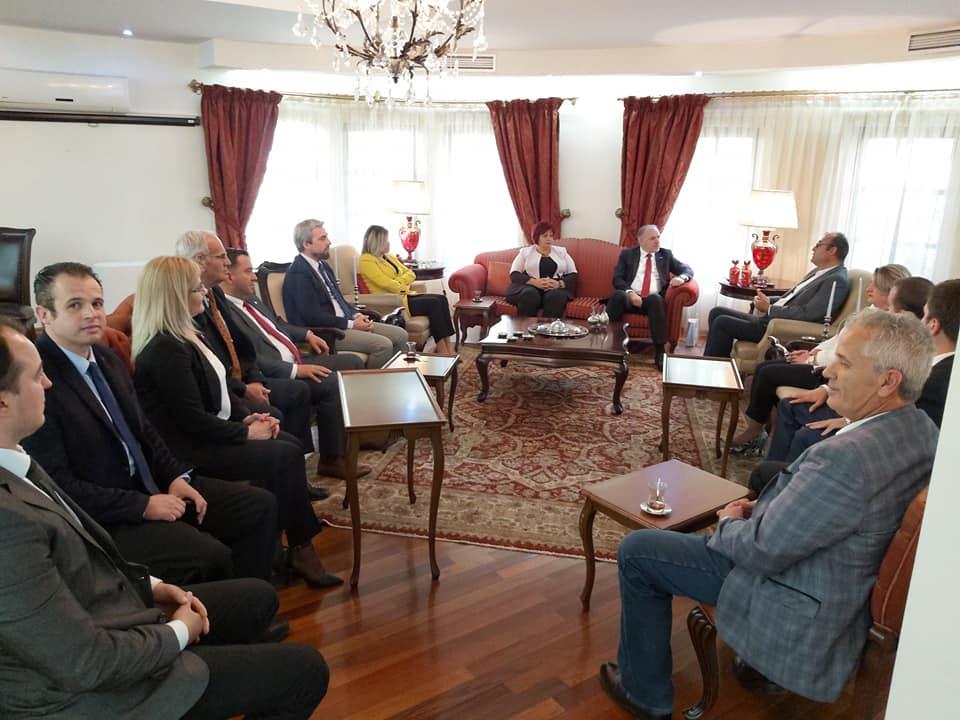 KDTP Genel Başkanı ve Heyeti, T.C. Priştine Büyükelçisi Çağrı Sakar'ı Ziyaret Etti