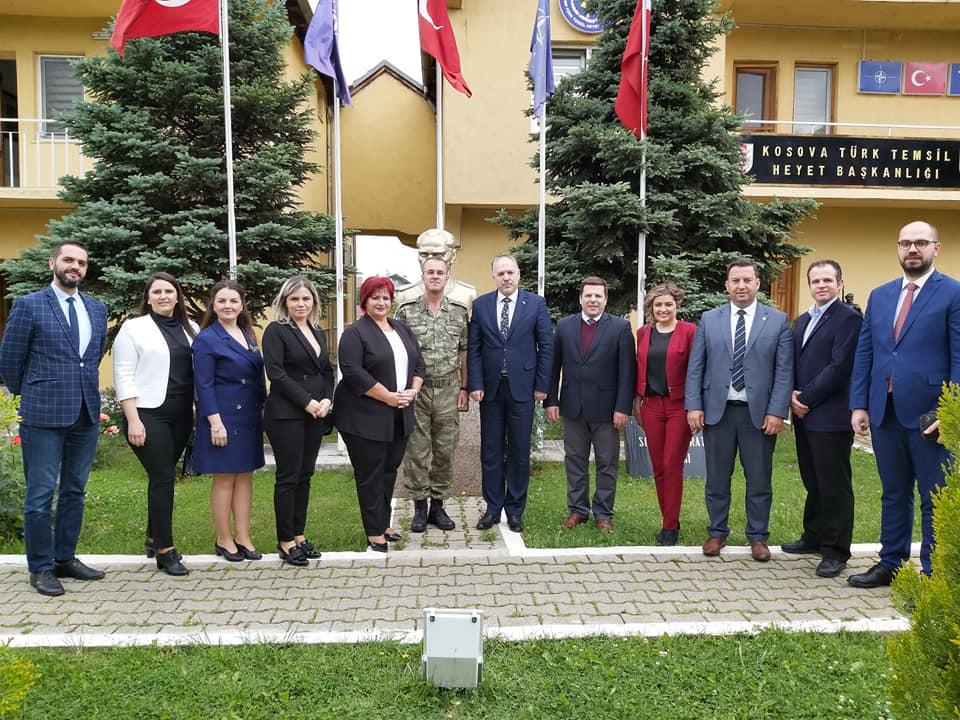 KDTP Genel Başkanı ve Heyeti'den, Türk Temsil Heyeti Başkanlığına Bayram Ziyareti