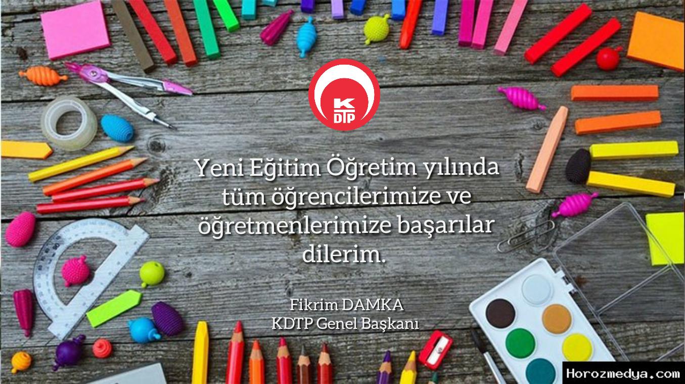 Başkan Fikrim Damka'nın Yeni Eğitim Ve Öğretim Yılı Mesajı