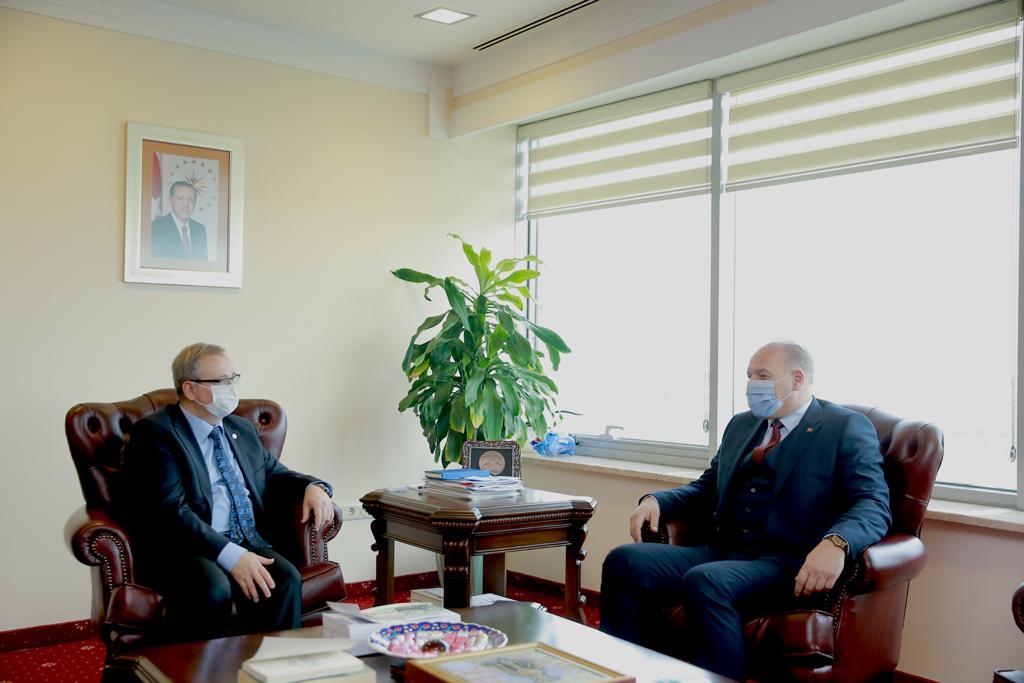 Genel Başkanımız Fikrim Damka, Trakya Üniversitesi Rektörü Prof. Dr. Erhan Tabakoğlu'nu Ziyaret Etti