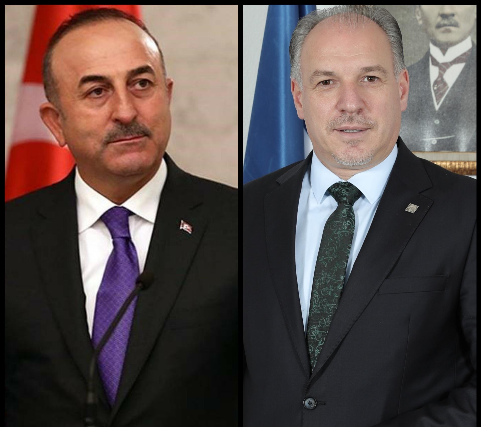 T.C. Dışişleri Bakanı Mevlüt Çavuşoğlu, Genel Başkanımız ve Bölgesel Kalkınma Bakanımız Fikrim Damka'yı Kutlayarak Başarılar Diledi