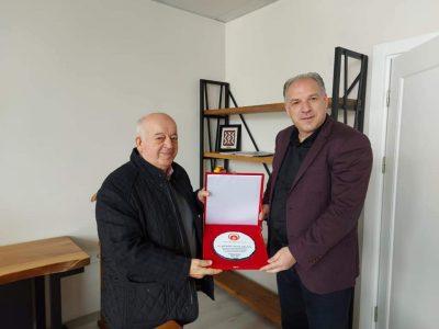 Genel Başkanımız Fikrim Damka, Prizrenli İş Adamı Münir Lauşa'yı Ziyaret Etti