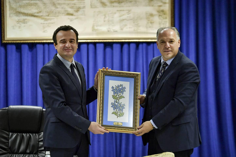 23 Nisan Kosova Türkleri Milli Bayramı Kapsamında Başbakan Albin Kurti Ziyaret Edildi