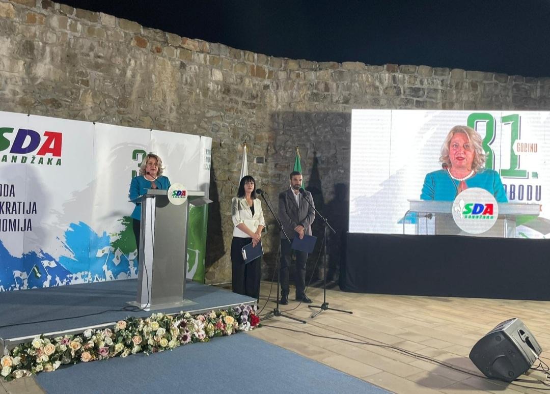 Milletvekilimiz Fidan Brina Jılta, SDA Sancak Partisinin 31.Kuruluş Yıldönümü Merasimine Katıldı