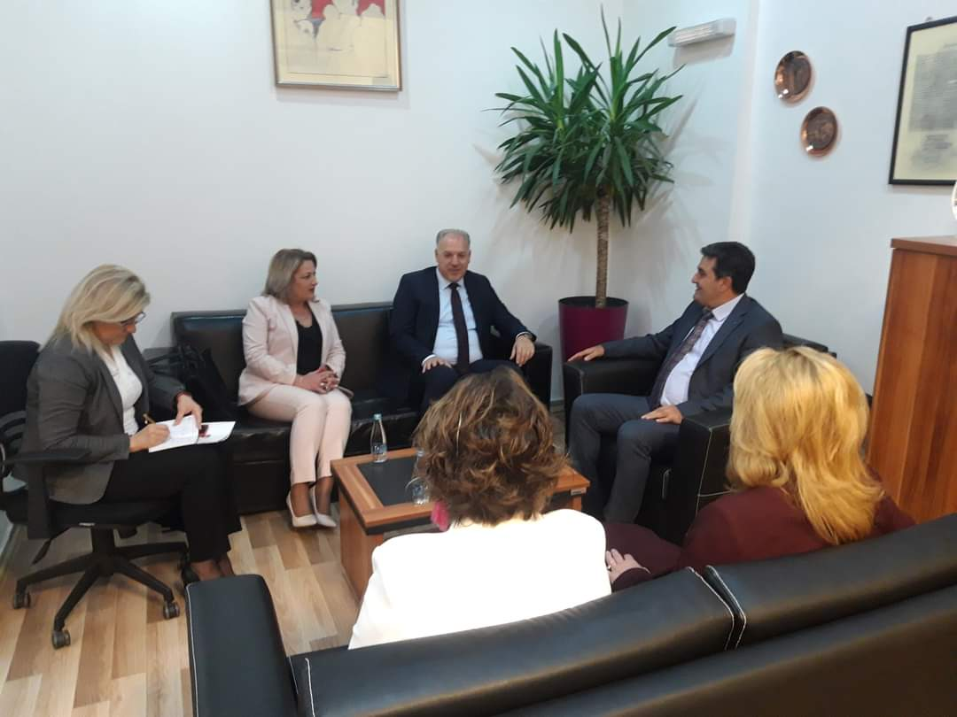 Bakan Damka ile Milletvekili Jılta, Prizren Üniversitesi'ni Ziyaret Etti